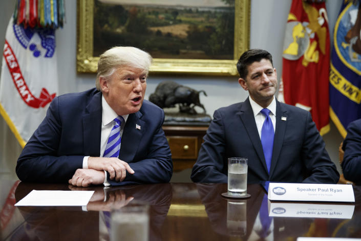 House Speaker Paul Ryan and Trump at the White House last September. (Photo: Evan Vucci/AP)
