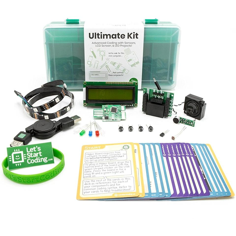 <p>If your tween has shown interest in computers, get them this <span> Let's Start Coding Ultimate Coding Kit For Kids </span> ($150). It comes with over 60 code projects that can help them learn if this is a career they would like.</p>