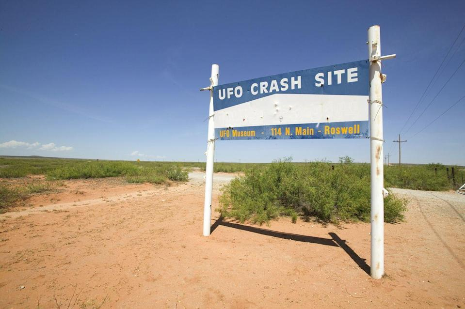 """<p>Roswell, New Mexico is considered by many to be the mecca of all things UFO-related. In July 1947, something crashed in a rural region of Roswell. Shortly thereafter, the public information officer Lt. Walter Haut immediately issued a press release stating that it was indeed a flying saucer that had crashed. </p><p>The information was immediately redacted, and the story quickly changed to it being a weather balloon. Over the years, new information has been unearthed regarding what is known as <a href=""""https://roswell-nm.gov/692/UFO-Story"""" rel=""""nofollow noopener"""" target=""""_blank"""" data-ylk=""""slk:The Roswell Incident"""" class=""""link rapid-noclick-resp"""">The Roswell Incident</a>, and it is widely believed to be a well-documented UFO coverup.</p>"""