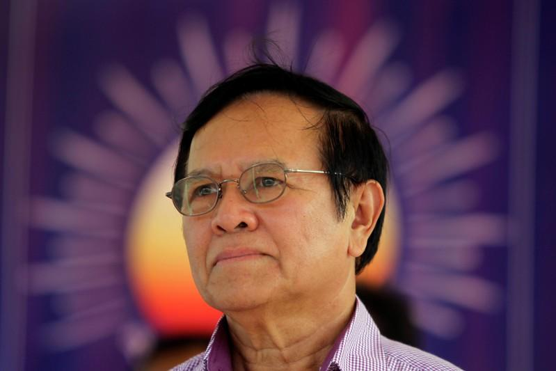 FILE PHOTO - Kem Sokha, leader of the Cambodia National Rescue Party, attends a meeting with party members in Kandal