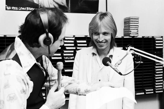 <p>Tom Petty promoting <i>Damn the Torpedoes </i>in the WYSP studios in Philadelphia, 1979. (Photo: AP) </p>