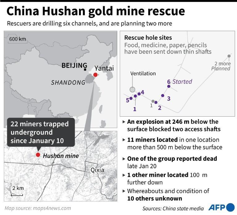 China Hushan gold mine rescue