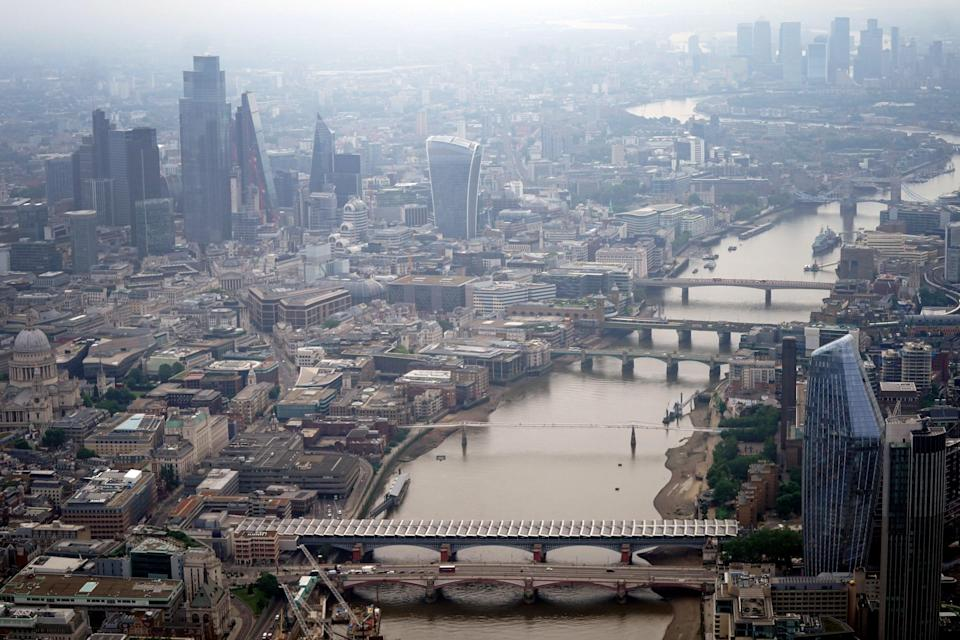 Aerial view of the London skyline (PA Wire)