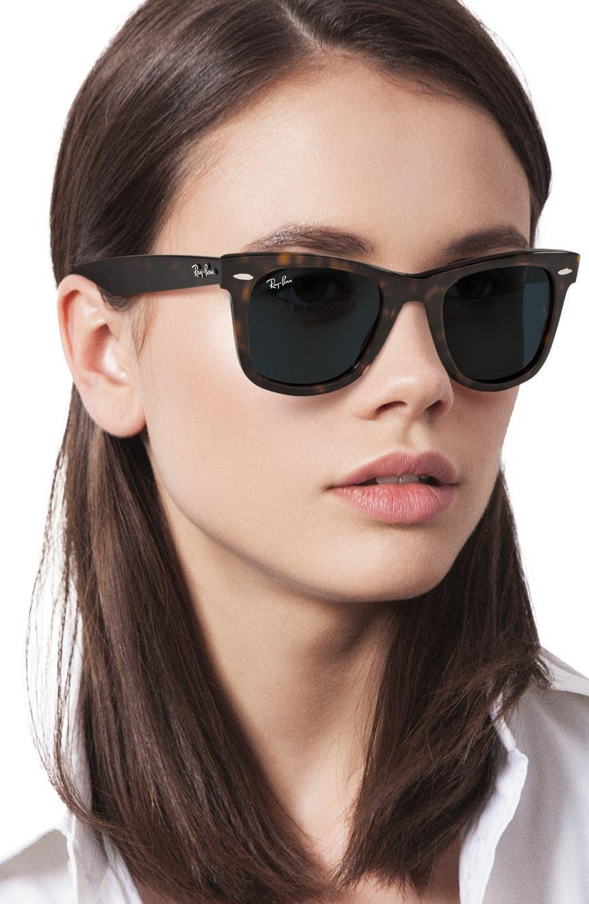 """<h2>Ray-Ban 50mm Wayfarer Sunglasses 38% Off<br></h2><br>""""I do not sleep on an under-$100 Ray-Ban deal — especially when 100%-UV-protective lenses are involved. These very classic Wayfarer frames are going to be my go-to pair for fall; I'm envisioning jeans-white-tee-and-blazer-with-boot lewks for days."""" <em>– Elizabeth Buxton, Deputy Director</em><br><br><em>Shop <a href=""""https://www.nordstrom.com/brands/ray-ban--1088"""" rel=""""nofollow noopener"""" target=""""_blank"""" data-ylk=""""slk:Ray-Ban"""" class=""""link rapid-noclick-resp""""><strong>Ray-Ban</strong></a> </em><br><br><strong>Ray-Ban</strong> 50mm Wayfarer Sunglasses, $, available at <a href=""""https://go.skimresources.com/?id=30283X879131&url=https%3A%2F%2Fwww.nordstrom.com%2Fs%2Fray-ban-50mm-wayfarer-sunglasses%2F5933279%3Fslpfid%3D2"""" rel=""""nofollow noopener"""" target=""""_blank"""" data-ylk=""""slk:Nordstrom"""" class=""""link rapid-noclick-resp"""">Nordstrom</a>"""
