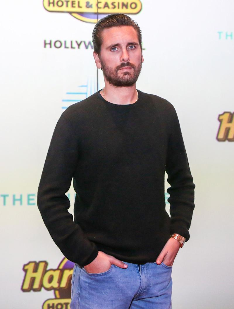 US media personality Scott Disick attends the Grand Opening of the Guitar Hotel expansion at Seminole Hard Rock Hotel & Casino Hollywood, in Hollywood, Florida