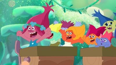 Trolls: The Beat Goes On marathons air Sunday mornings on Family Channel this November. (CNW Group/WildBrain Television)