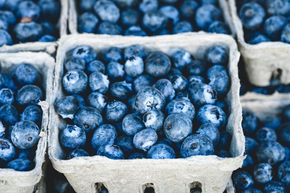 <p>Blueberries are another food that McKittrick recommends because they're rich in antioxidants, fiber, and vitamin C. She explained that these small, colorful fruits may decrease inflammation, insulin resistance, and oxidative stress - all important issues for PCOS.</p>