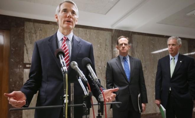 Sen. Rob Portman, the first Republican senator to come out in support of gay marriage.
