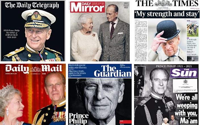 The front pages of the British press
