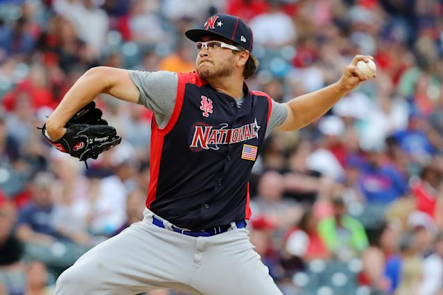 Anthony Kay recorded a strikeout in a scoreless inning during the Futures Game at Progressive Field in Cleveland. (Getty Images)
