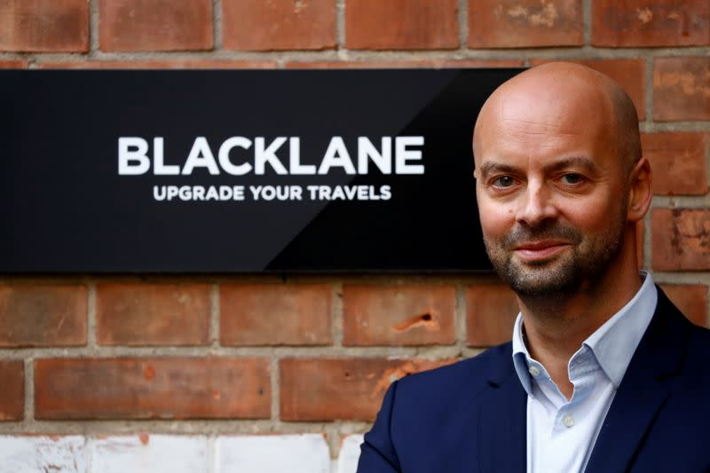 German chauffeur service Blacklane CEO Jens Wohltorf is pictured in Berlin