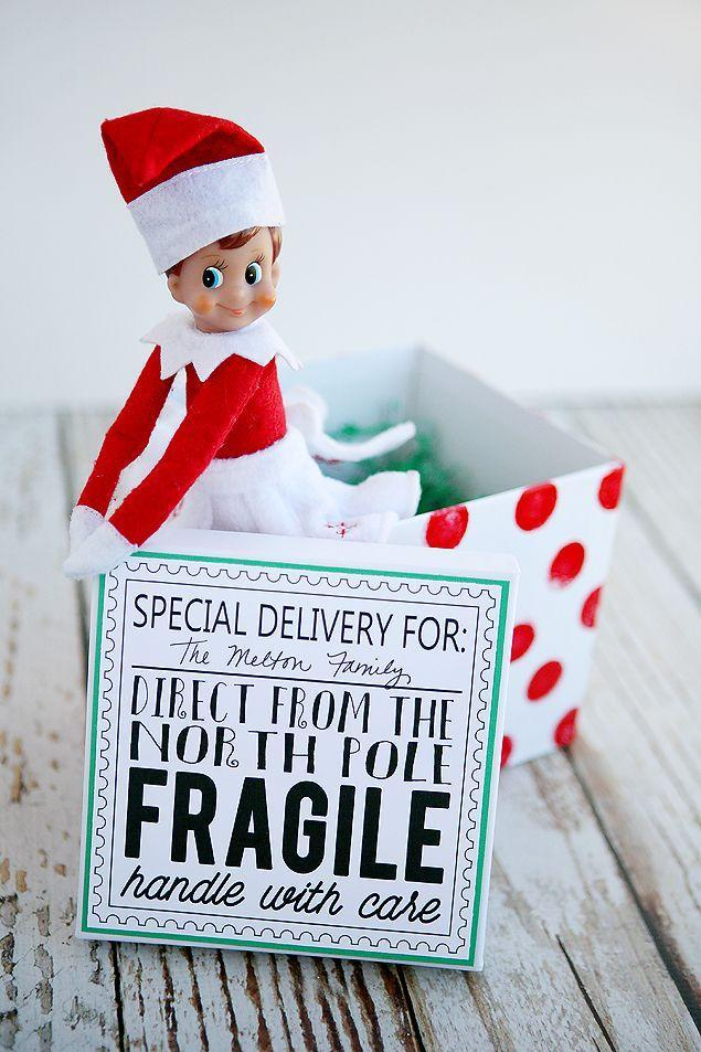 """<p>Like all great gifts, your Elf should show up in a special delivery box! We love this idea for the first day of Return Week.</p><p><strong>Get the tutorial at <a href=""""https://eighteen25.com/elf-on-the-shelf-returns/"""" rel=""""nofollow noopener"""" target=""""_blank"""" data-ylk=""""slk:Eighteen 25"""" class=""""link rapid-noclick-resp"""">Eighteen 25</a>.</strong></p><p><strong><strong><a class=""""link rapid-noclick-resp"""" href=""""https://www.amazon.com/MESHA-Recycled-Boxes-Inches-Wedding/dp/B01N914X3T/ref=sr_1_1_sspa?tag=syn-yahoo-20&ascsubtag=%5Bartid%7C10050.g.29656008%5Bsrc%7Cyahoo-us"""" rel=""""nofollow noopener"""" target=""""_blank"""" data-ylk=""""slk:SHOP WHITE BOX"""">SHOP WHITE BOX</a></strong><br></strong></p>"""