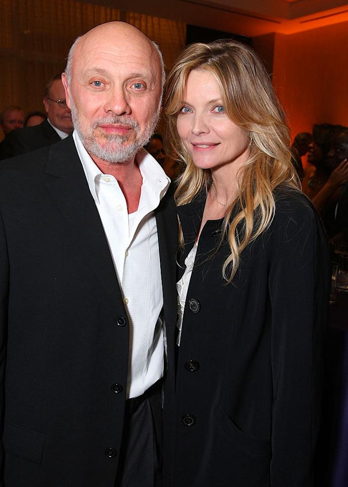 """Hector Elizondo caught up with his """"Frankie and Johnny"""" co-star Michelle Pfeiffer. Michelle's producer hubby David E. Kelly was honored at the event for """"Boston Legal's"""" portrayal of Alzheimer's on television. John Shearer/<a href=""""http://www.wireimage.com"""" target=""""new"""">WireImage.com</a> - March 5, 2008"""