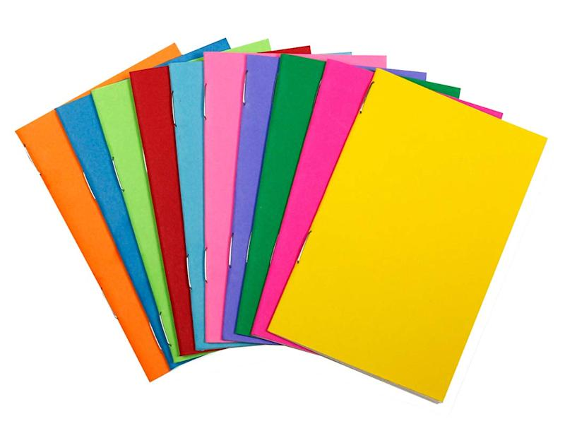 Hygloss Tiny Colorful Blank Books - Notebook, Sketch Pad, Journal for Drawing, Writing and Scrapbooking - 2 ¾ x 4 ¼-inch - 10 per Pack