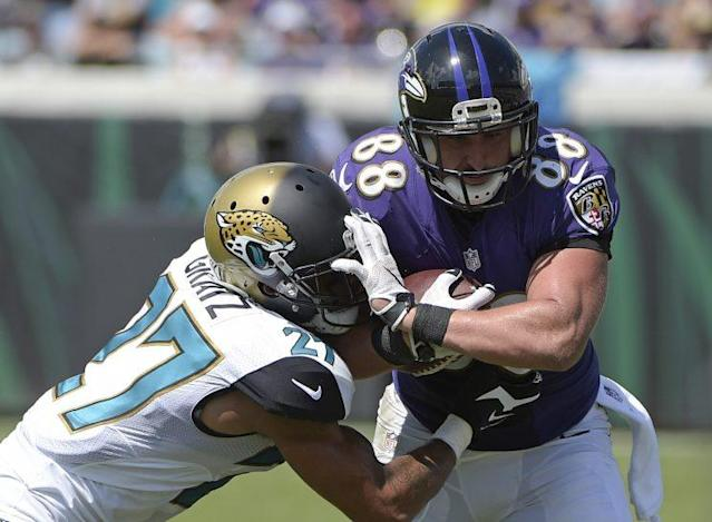 Dennis Pitta was released by the Ravens on Wednesday. (AP)