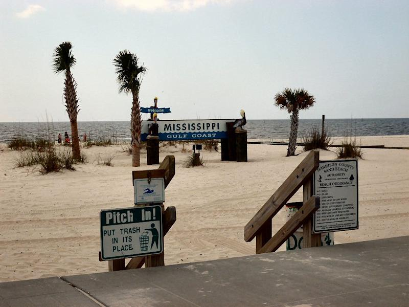 Gulfport East Beach in Mississippi is open.