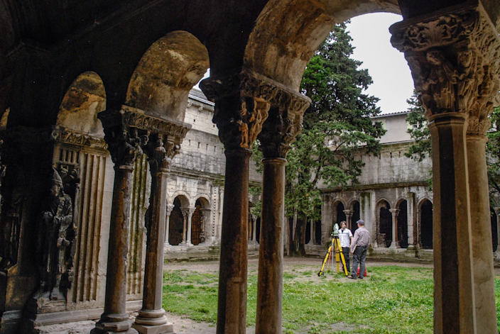 The cloister of <strong>Saint-Trophime</strong> in France houses important examples of Romanesque sculpture, Christian iconography, and marble work.