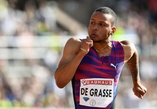 De Grasse returns to track with 4th-place finish at Drake Relays