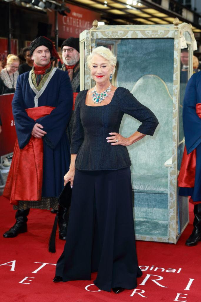 The 74-year-old actress made a regal entrance [Photo: Getty]