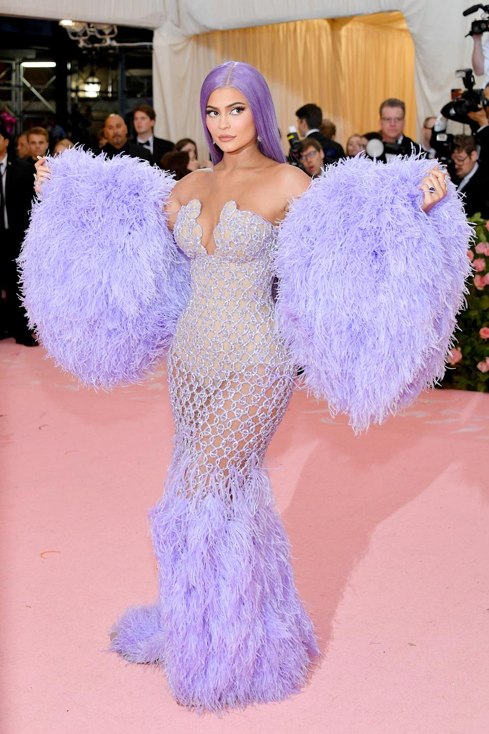 """<h1 class=""""title"""">Kylie Jenner in Atelier Versace wearing Lorraine Schwartz jewelry</h1><cite class=""""credit"""">Photo: Getty Images</cite>"""