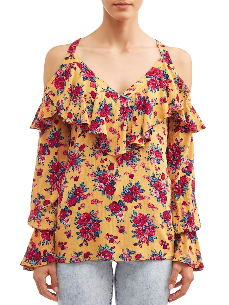 This stylish top is available in three colors. (Photo: Walmart)