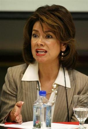Maria Contreras-Sweet, founding chairwoman, Promerica Bank at the 2008 Milken Institute Global Conference in Beverly Hills
