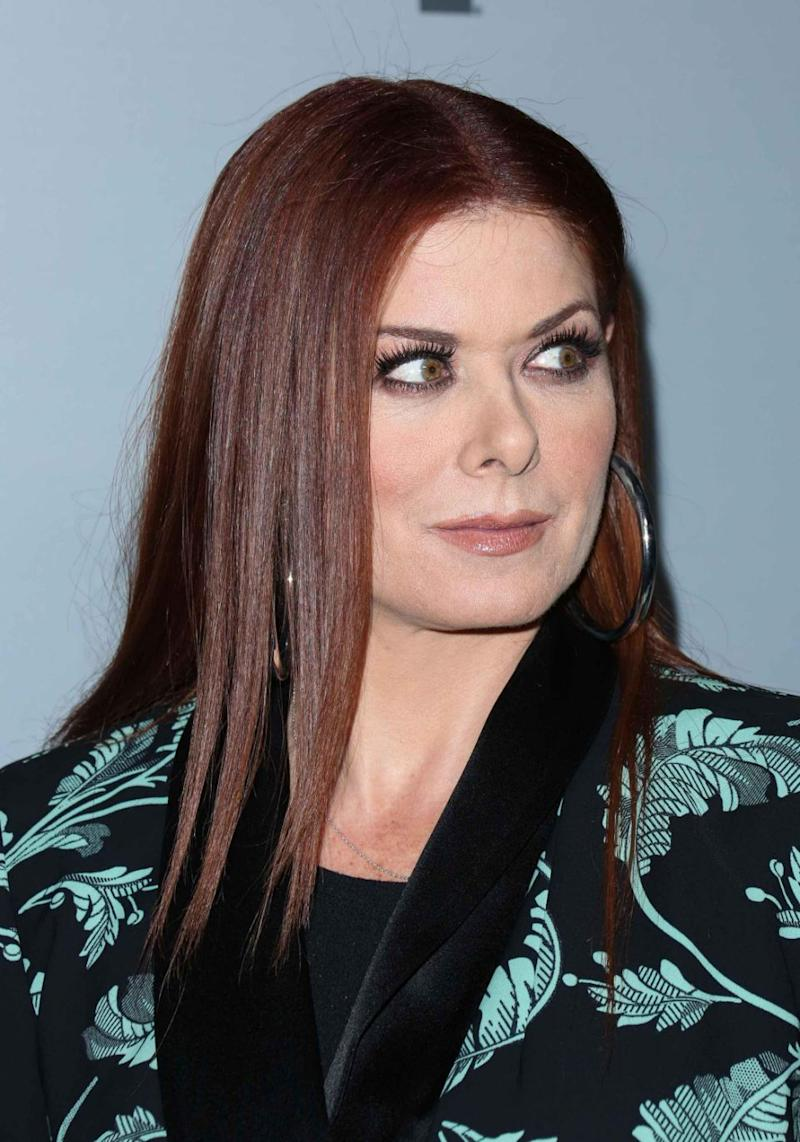 Debra Messing (pictured here last month) has slammed Donald Trumps presidency. Source: Getty