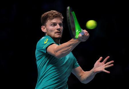 Tennis - ATP World Tour Finals - The O2 Arena, London, Britain - November 19, 2017 Bulgaria's Grigor Dimitrov in action during the final against Belgium's David Goffin REUTERS/Toby Melville