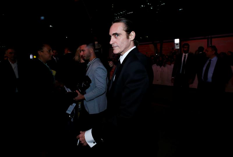 Actor Joaquin Phoenix arrives for the world premiere of The Sisters Brothers at the Toronto International Film Festival (TIFF) in Toronto, Canada, September 8, 2018. REUTERS/Mario Anzouni