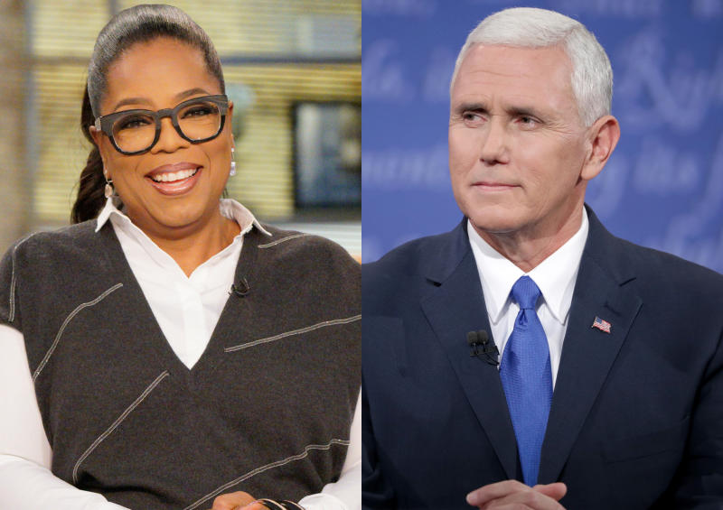 Mike Pence compares himself to Oprah while stumping in Georgia