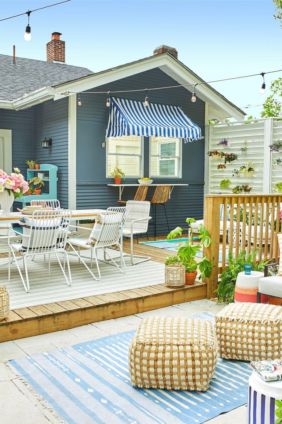<p>If your deck is low to the ground, extend its reach by laying stone patio tiles along the existing deck. It'll create a seamless flow from one area of your space to the next, which is perfect for summer parties and gatherings. </p>