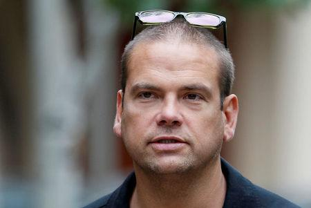 FILE PHOTO: Lachlan Murdoch arrives at annual Allen and Co. conference at the Sun Valley