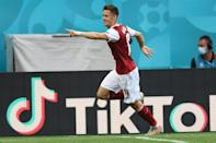 Baumgartner's goal sent Austria into the knockout stage for the first time