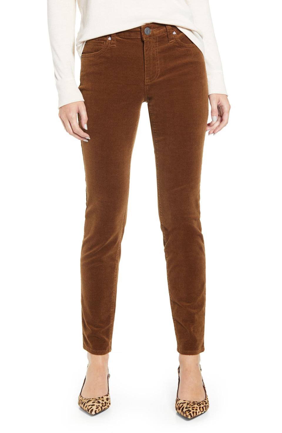 Kut From the Kloth Diana Stretch Corduroy Skinny Pants. Image via Nordstrom.