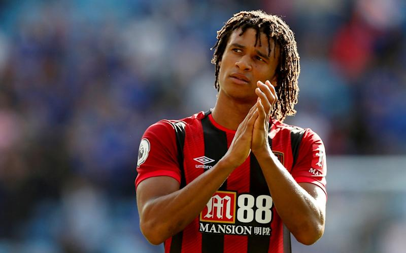 Nathan Ake playing for Bournemouth -Nathan Ake completes £41m move to Manchester City from Bournemouth - REUTERS