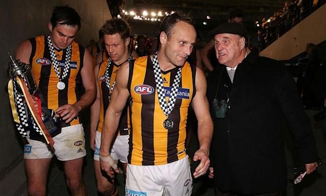 """<span class=""""element-image__caption"""">AFL life member and Hawthorn saviour Ian Dicker (right) has joined the fight to save the Frankston Dolphins.</span> <span class=""""element-image__credit"""">Photograph: Michael Dodge/Getty Images</span>"""