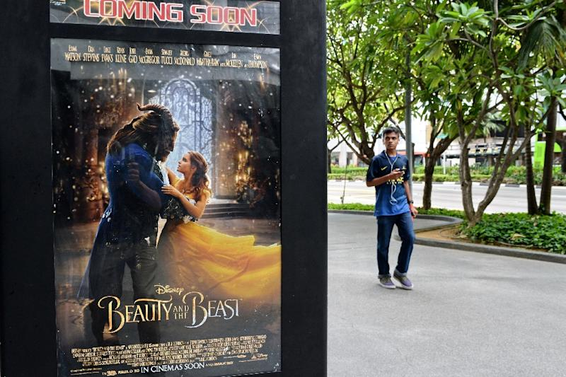 """Film site Fandango reported """"Beauty and the Beast"""" had sold out at more than 1,000 showtimes in big cities and small, something more common for superhero blockbusters than for a family-oriented production (AFP Photo/Roslan RAHMAN)"""
