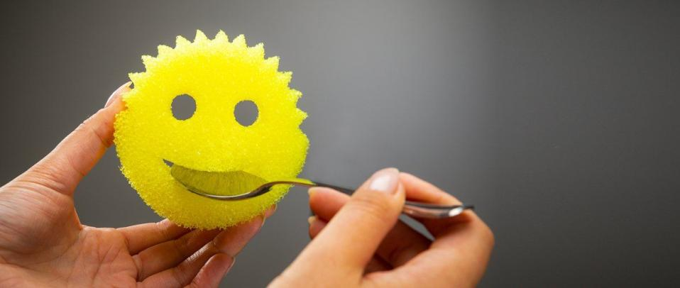 Image of Scrub Daddy sponge cleaning utensils
