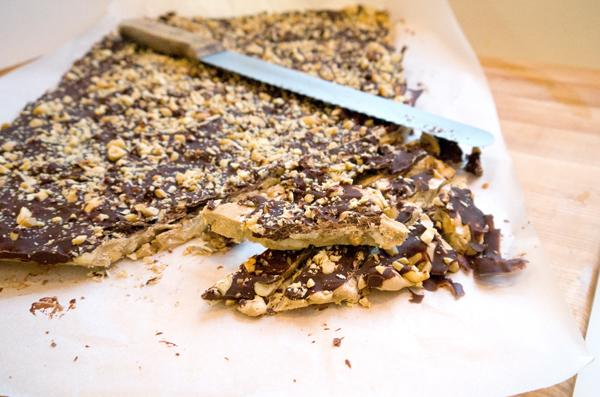 "Photo: So says Sarah<br> Salted Chocolate Peanut Toffee<br><br> Sarah Lipoff gives this easy, economical sweet and salty toffee as gifts each year. That the kind of holiday tradition we can get behind! <b>Recipe: <a href=""http://sarahlipoff.com/2012/12/16/salted-chocolate-peanut-toffee/"" rel=""nofollow noopener"" target=""_blank"" data-ylk=""slk:Salted Chocolate Peanut Toffee"" class=""link rapid-noclick-resp"">Salted Chocolate Peanut Toffee</a></b>"