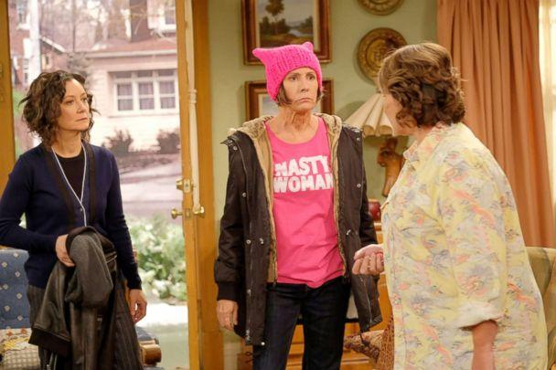 PHOTO: Sara Gilbert, Laurie Metcalf and Roseanne Barr appear in a scene from 'Roseanne.' (Adam Rose/ABC via Getty Images)