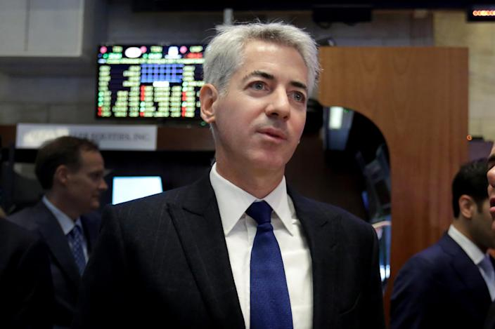 Bill Ackman, CEO and founder of Pershing Square Capital, visits the floor of the New York Stock Exchange, Tuesday, Nov. 10, 2015. (AP Photo/Richard Drew)