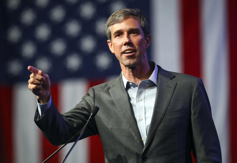 Beto O'Rourke speaks during the general session at the Texas Democratic Convention in Fort Worth Texas. O'Rourke will have the first of three scheduled debates Friday Sept. 21 2018 in Dallas against