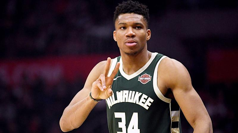 Giannis Antetokounmpo is pictured here during a game for the Bucks.