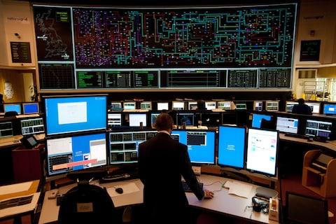 National Grid control room - Credit: Andrew Crowley