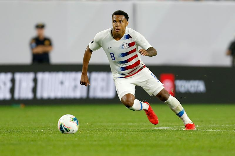 USMNT midfielder Weston McKennie is among the soccer players who have called for justice for George Floyd, an unarmed black man killed while in police custody in Minnesota. (Kirk Irwin/Getty Images)