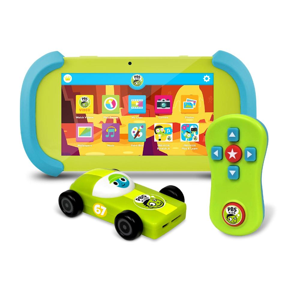 <p>For screen time that you can feel good about, the <span>PBS Kids Playtime Pad</span> ($80) offers toddlers over 1 million shows and activities. Measuring seven inches and protected by rubber bumpers, the device is perfectly designed for the high-tech tot.</p>