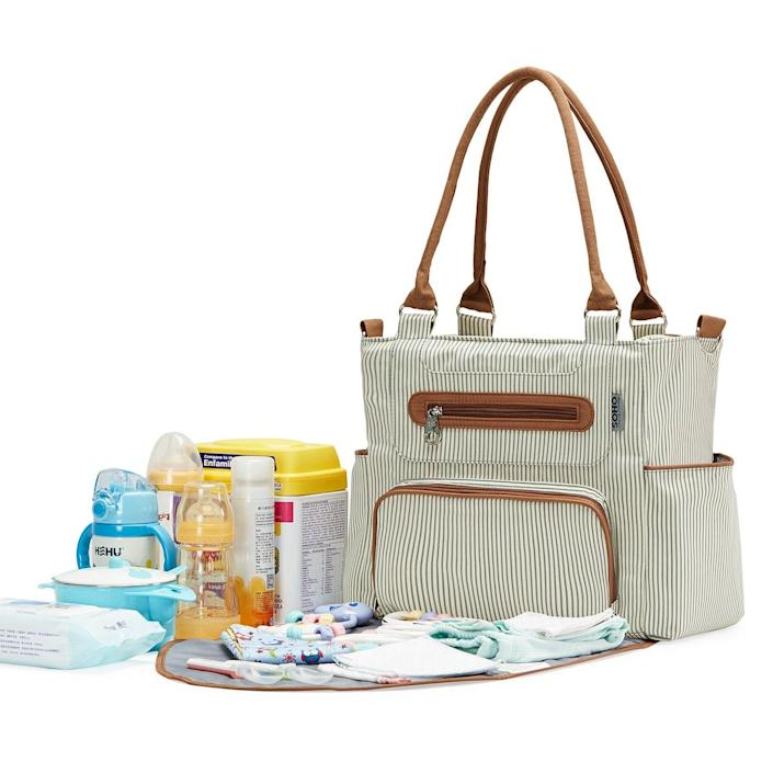 <p>The <span>SoHo Diaper Bag Grand Central Station</span> ($37, originally $70) comes with seven small compartments that you can toss inside the large one for maximum organization.</p>