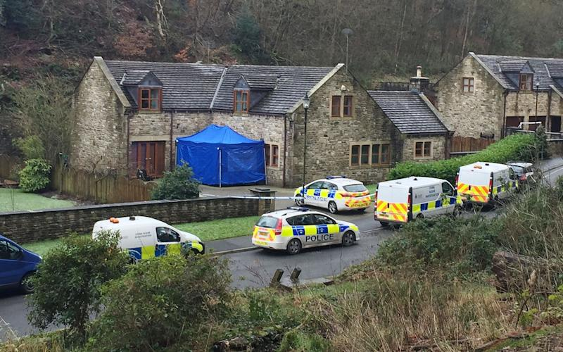 Police at the £500,000 home of Sadie Hartley in the village of Helmshore, Lancashire - Credit: Pat Hurst/PA