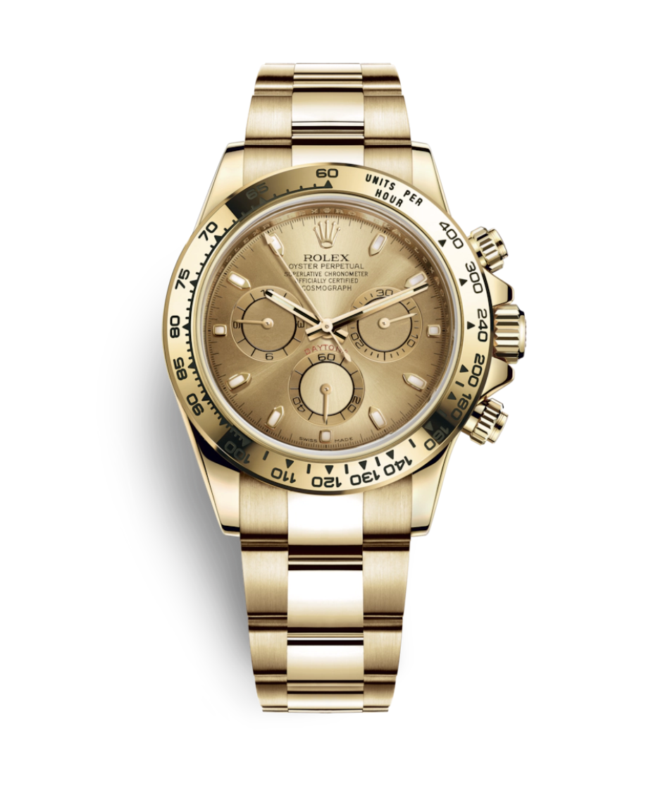 """<p><strong>Rolex Cosmograph Daytona Watch</strong></p><p>rolex.com</p><p><strong>$36650.00</strong></p><p><a href=""""https://www.rolex.com/watches/cosmograph-daytona/m116508-0003.html"""" rel=""""nofollow noopener"""" target=""""_blank"""" data-ylk=""""slk:Shop Now"""" class=""""link rapid-noclick-resp"""">Shop Now</a></p><p>With a five-point crown as a symbol, it's no wonder many think Rolex is the king of watches. Founded in 1905 in London, England, by Hans Wilsdorf and Alfred Davis, the company moved its operations to Geneva, Switzerland, after WWI. It was there where the duo developed the first waterproof and dustproof wristwatches in 1926; and the first self-winding mechanism with a Perpetual rotor five years later. </p><p>Looking to bolster its reputation, the company bought advertisements to show the technical mastery of its timepieces, including one that featured Mercedes Gleitze, who wore a Rolex watch when swimming across the English Channel. He also became its first brand ambassador—a moniker that would be attributed to A-list actors, sports stars, and music legends throughout the years. Indeed, Rolex's greatest achievement is creating a marketing machine that is far ahead of its competitors. So much so that secondhand watches often break records when sold at auction, particularly the Cosmograph Daytona, which debuted in the '60s. <br></p>"""