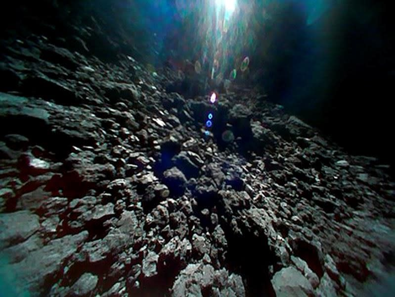 Japan rover photos show asteroid's surface